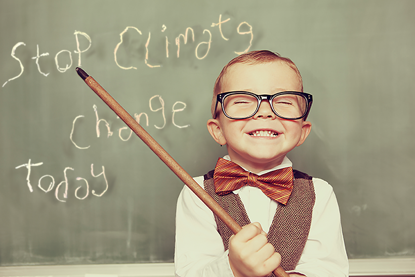 Every kid knows - you can cut 60 percent of your carbon footprint today in three easy steps